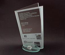 Prix - PEOPLE'S CHOICE AWARD<br/>LA PRESSE / SALON DU<br/>LIVRE DE MONTRÉAL